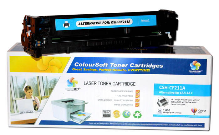 HP 131A Toner Cyan ColourSoft Compatible (CF211A). Click here to view larger image